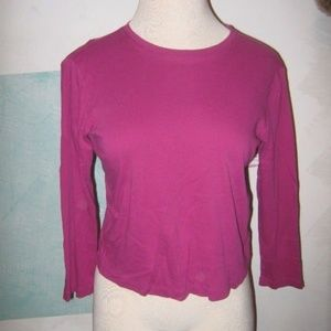 FREE WITH BUNDLE Rose Pink Long Sleeve Stretch Top